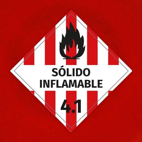 Señal Sólido Inflamable 4.1