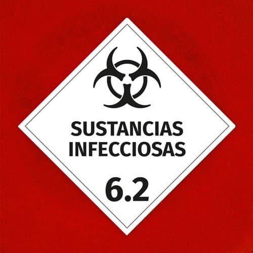 Señal Sustancias Infecciosas 6.2