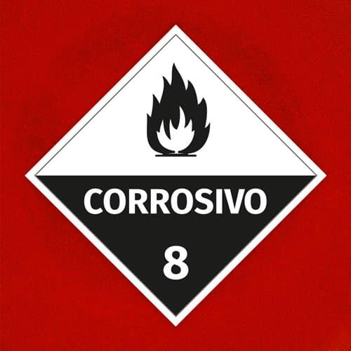 Señal Corrosivo 8