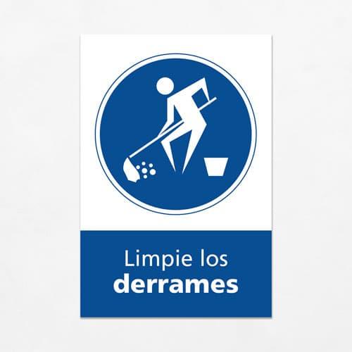Señal Limpie los Derrames V
