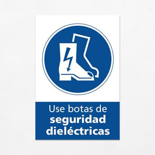 Señal Use Botas de Seguridad Dieléctricas V