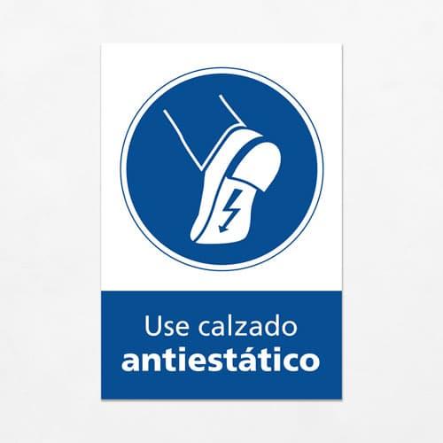 Señal Use Calzado Antiestático V