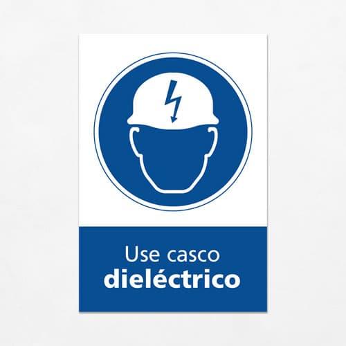 Señal Use Casco Dieléctrico V