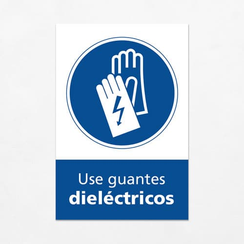 Señal Use Guantes Dielétricos V
