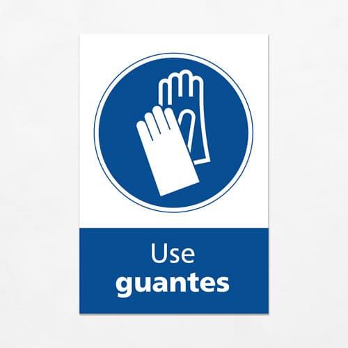 Señal Use Guantes V