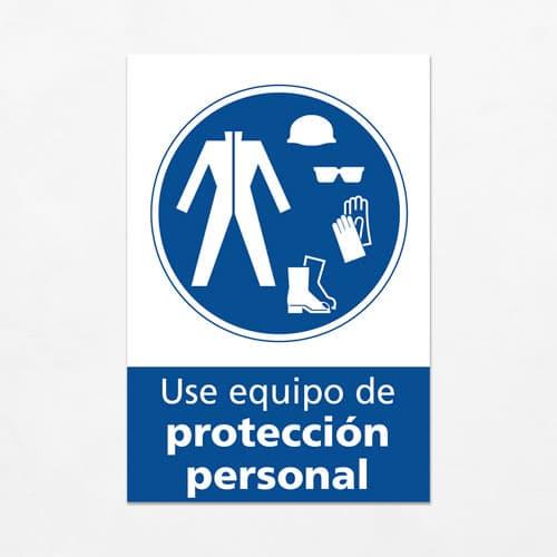 Señal Use Equipo de Protección Personal V
