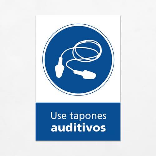 Señal Use Tapones Auditivos V