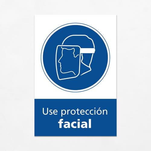 Señal Use Protección Facial V