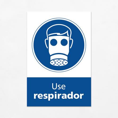 Señal Use Respirador V
