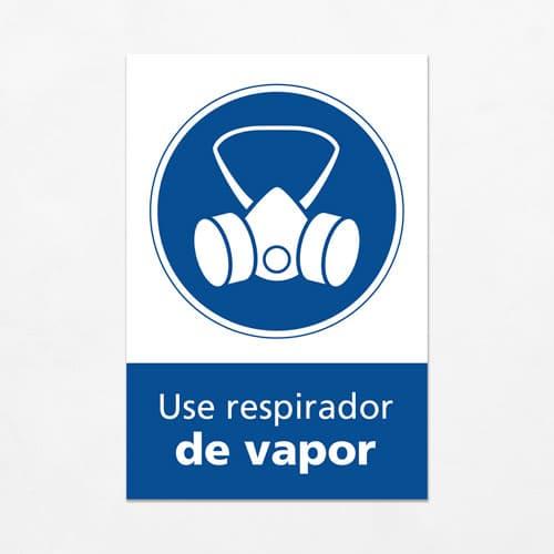 Señal Use Respirador de Vapor V
