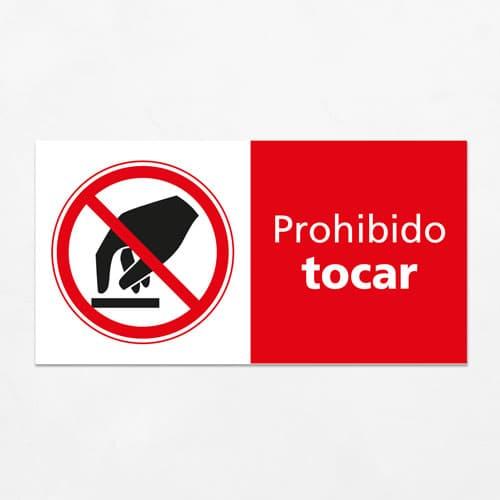 Señal Prohibido Tocar H
