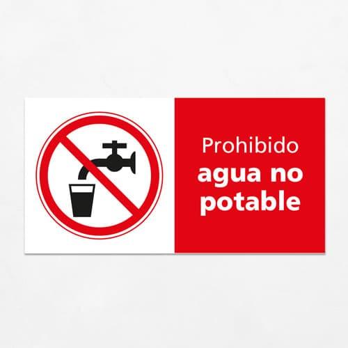 Señal Prohibido Agua No Potable H