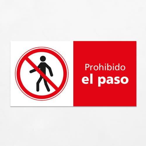 Señal Prohibido el Paso H