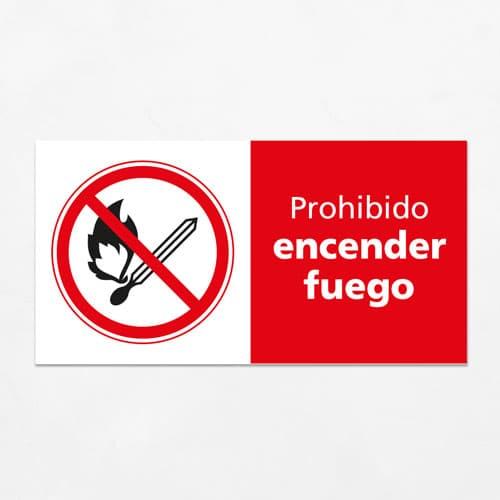 Señal Prohibido Encender Fuego H
