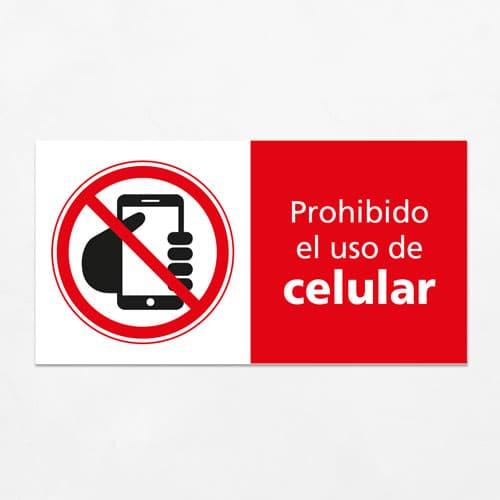 Señal Prohibido el Uso de Celular H