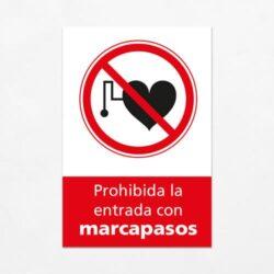 señales de prohibición la Entrada con Marcapasos V