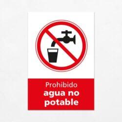 Señal Prohibido Agua No Potable V