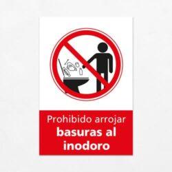 Señal Prohibido Arrojar Basuras al Inodoro V
