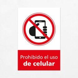 Señal Prohibido el Uso de Celular V