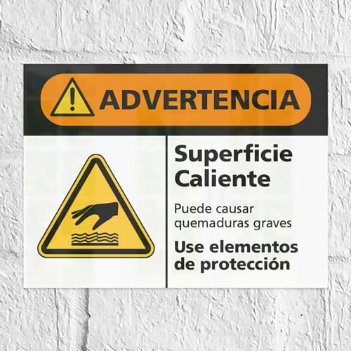 Señal Advertencia Superficie Caliente