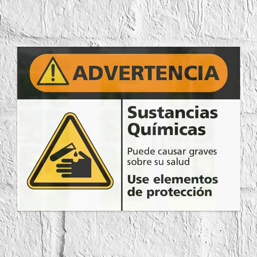 Señal Advertencia Sustancias Químicas