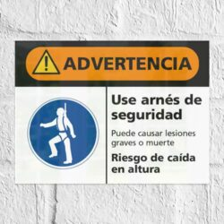 Señal Advertencia Use Arnés de seguridad