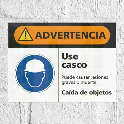 Señal Advertencia Use Casco