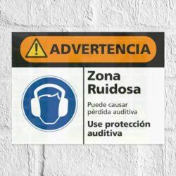 Señal Advertencia Zona Ruidosa