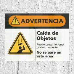 Señal Advertencia Caída de Objetos