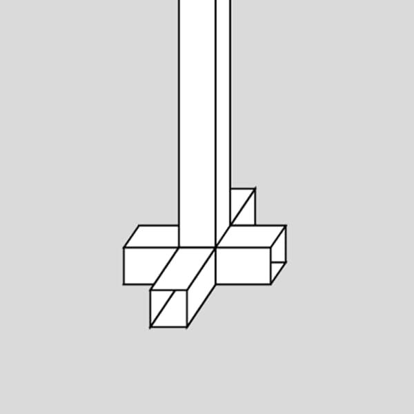 pedestal fijo a tierra