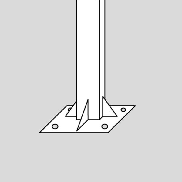 pedestal atornillado