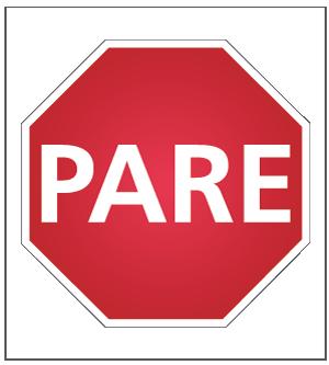 señales de tránsito pare