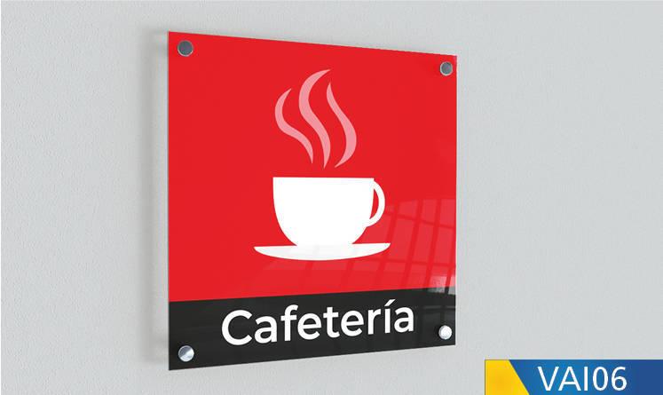 señaletica cafeteria