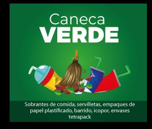 clasificación de residuos caneca verde