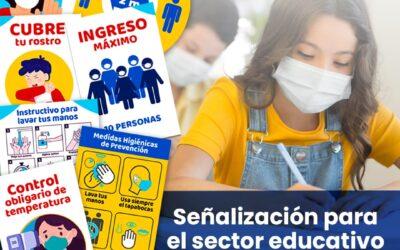 Señalización de bioseguridad para colegios y universidades Colombia
