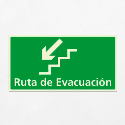señal de evacuación escaleras
